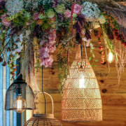 hanging decor, hanging florals - Salt & Pepper Creative
