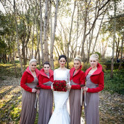 bride, bridesmaids, dress - Oakfield Farm – Wedding & Function Venue