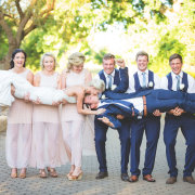 bridal party, bridesmaids, dress, suit