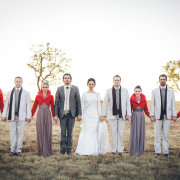 bridal party, bride and groom, bridesmaids, dress, suit - Oakfield Farm – Wedding & Function Venue