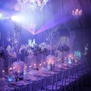 chandeliers, floral centrepieces - SBM Emporium