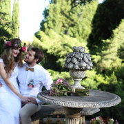 bouquet, bride and groom, headpiece - Barefeet Videography