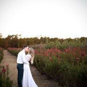 bride and groom, bride and groom, flowers, kiss, kiss - Barefeet