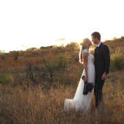 bride and groom, bride and groom, bushveld - Barefeet