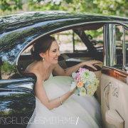 bouquet, bride, car - Classic Cats