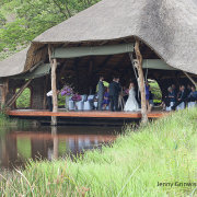 dam, thatch roof, venue - iNsingizi Game Lodge and Spa