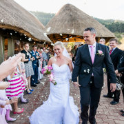 bride and groom, confetti - iNsingizi Game Lodge and Spa