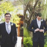 boutonniere, suit, tie