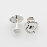 cufflinks, grooms accessories - Silvery