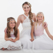 flower girls, headpiece, wedding dress - Infinity Dress South Africa