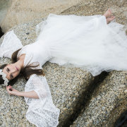 beach, lace wedding dress, wedding dress - Infinity Dress South Africa