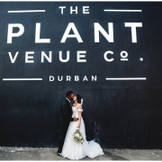 bride and groom, bride and groom, kiss, kiss - The Plant Venue Co.
