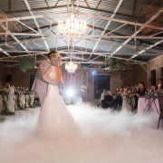 bride and groom, bride and groom, chandeliers, dance, first dance - Ever Be Wedding Venue