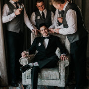 groom and groomsmen - Ever Be Wedding Venue