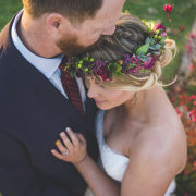 bride and groom, headpiece