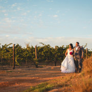 bride and groom, winelands
