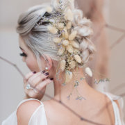 bridal hairstyles, hair accessories - Celestial Makeup Artistry
