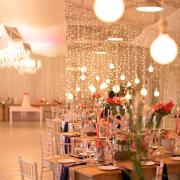 fairy lights, table