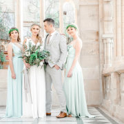 bouquets, bride and groom, bride and groom, bridesmaids, bridesmaids - Outlandish Events - Luxury & Destination Weddings