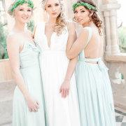 bride and bridesmaids, bridesmaids dresses, bridesmaids dresses, flower crowns - Outlandish Events - Luxury & Destination Weddings