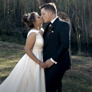 bride and groom, bride and groom, bride and groom, kiss, kiss, kiss - Set The Scene