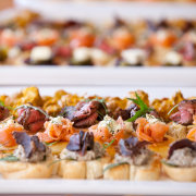 canapes, food, snacks