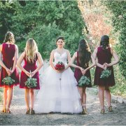 bride and bridesmaids - Flowers by Arlene