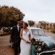 bouquets, bride and groom, bride and groom, wedding cars - Flowers by Arlene