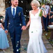 bride and groom, bride and groom, confetti - Paper Plane Media