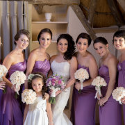 bridesmaids dresses, purple - Makeup by Taryn