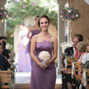 bridesmaids dress, puple - Makeup by Taryn