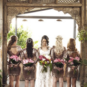 bride and bridesmaids, bridesmaids dresses, bridesmaids dresses - Barclay Studios