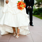 bouquets, bridal shoes - Le Franschhoek Hotel & Spa