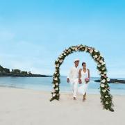 arch, beach, ceremony