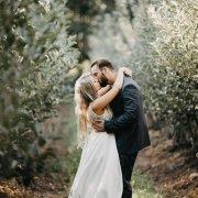 bride and groom, bride and groom, kiss, kiss, kiss - The Millhouse Kitchen