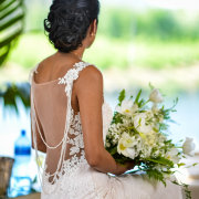 bouquet, bride, dress - Lothian Vineyards