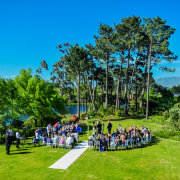 ceremony, dam, outdoor - Lothian Vineyards