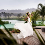 dress, swimming pool, overberg wedding venue, overberg wedding venue, overberg wedding venue - Lothian Vineyards