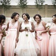 bride and bridesmaids, bridesmaids dresses, bridesmaids dresses, pink - Accolades Boutique Venue