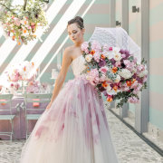 pink, wedding dress, bouquet - Absolute Perfection - Flowers
