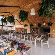 fairy lights, floral centrepieces, floral decor, hanging greenery - Event Architect