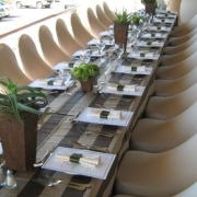 brown, decor, table setting - Be-Dazzled