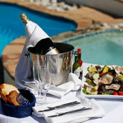 champagne, oysters - Arniston Spa Hotel