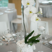 decor, flowers, table setting, venue, white - Kelvin Grove Club