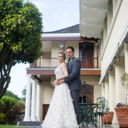 bride, groom, venue, wedding, white - Kelvin Grove Club