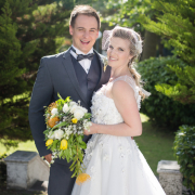 bride, groom, venue, white - Kelvin Grove Club