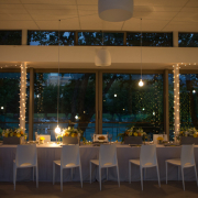 decor, flowers, lighting, table setting, venue, white - Kelvin Grove Club