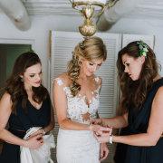 bride and bridesmaids - Makeup by Lauren