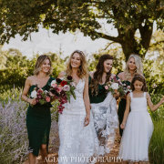 bride and bridesmaids, flower girl - Vrede en Lust