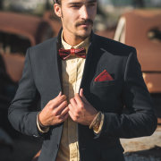 bow tie, leather - WEEF